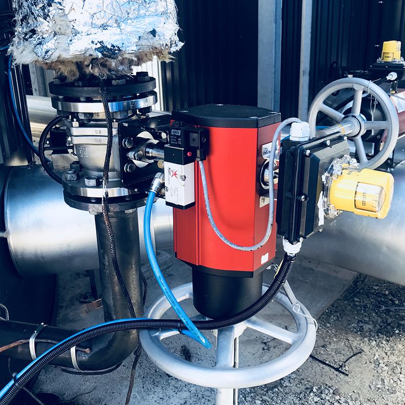 Bitumen lekkasje - etter tørrisblåsing